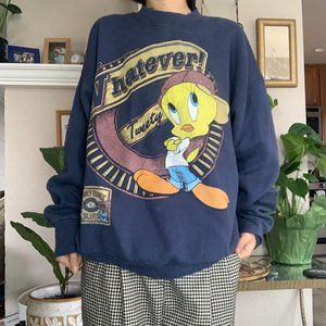 Vintage Looney Tunes Tweety Whatever Crew Neck